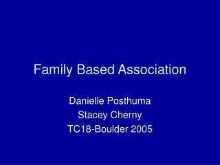 Family Based Association