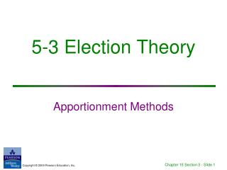 5-3 Election Theory