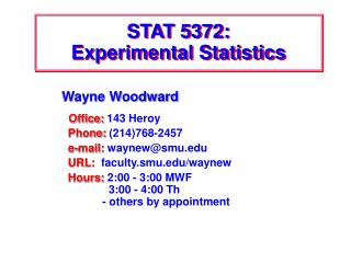 STAT 5372: Experimental Statistics