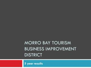 Morro Bay Tourism Business Improvement District