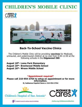 Back-To-School Vaccine Clinics