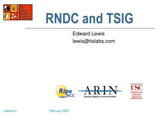 RNDC and TSIG