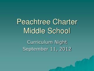 Peachtree Charter Middle School