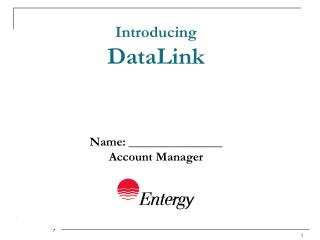 Introducing DataLink Name: _______________ Account Manager