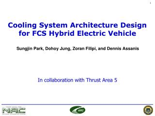 Cooling System Architecture Design for FCS Hybrid Electric Vehicle