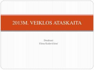 201 3 M. VEIKLOS ATASKAITA