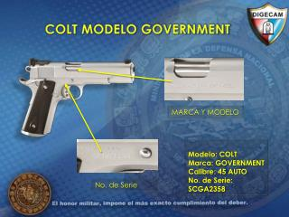 COLT MODELO GOVERNMENT
