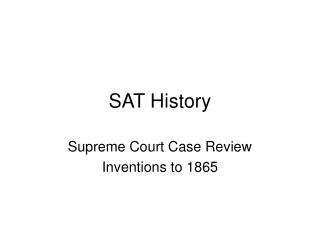 SAT History