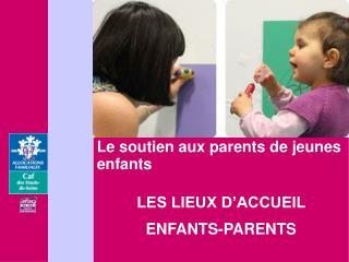 Le soutien aux parents de jeunes enfants  LES LIEUX D'ACCUEIL  ENFANTS-PARENTS