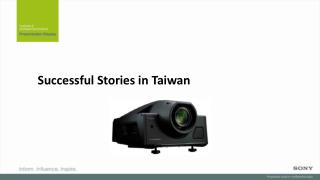 Successful Stories in Taiwan