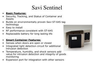 Savi Sentinel