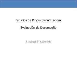Estudios de Productividad Laboral Evaluación de Desempeño