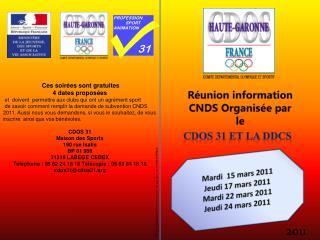 Réunion information CNDS Organisée par le