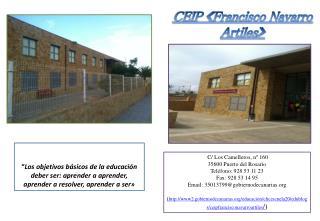CEIP �Francisco Navarro  Artiles �