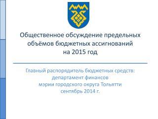 Общественное обсуждение предельных объёмов бюджетных ассигнований на 2015 год