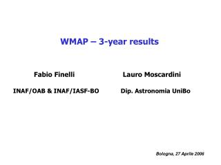 WMAP – 3-year results