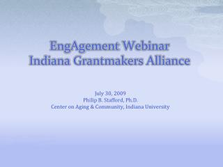 EngAgement  Webinar  Indiana  Grantmakers  Alliance