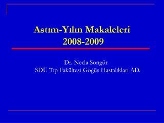Astım-Yılın Makaleleri   2008-2009