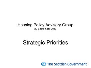 Housing Policy Advisory Group 30 September 2013