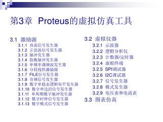 第 3 章   Proteus 的虚拟仿真工具