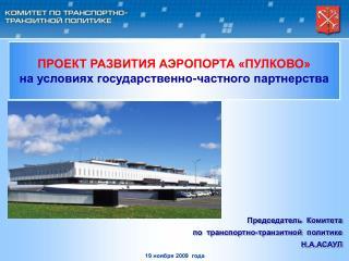 Председатель  Комитета  по  транспортно-транзитной  политике  Н.А.АСАУЛ
