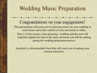 Wedding Music Preparation
