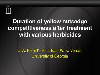Duration of yellow nutsedge competitiveness after treatment with various herbicides