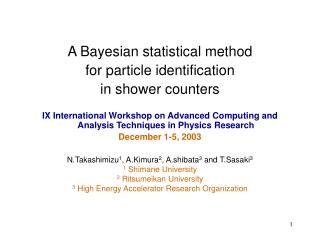 A Bayesian statistical method for particle identification in shower counters