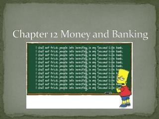 Chapter 12 Money and Banking
