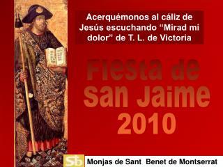 "Acerquémonos al cáliz de Jesús escuchando ""Mirad mi dolor"" de T. L. de Victoria"