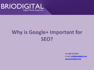Why is Google+  I mportant for SEO?