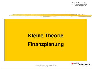 Kleine Theorie Finanzplanung
