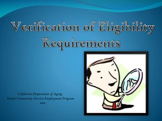 California Department of Aging  Senior Community Service Employment Program                                         2012