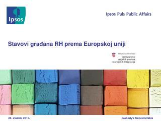 Stavovi građana RH prema Europskoj uniji