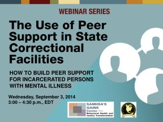 How to Build Peer Support for Incarcerated Persons with Mental Illness