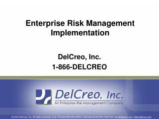 Enterprise Risk Management Implementation