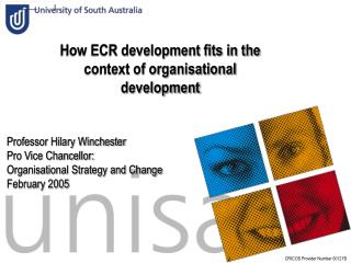 How ECR development fits in the context of organisational development