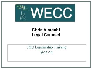 Chris Albrecht Legal Counsel