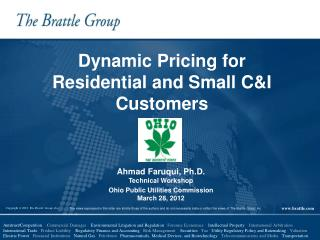 Dynamic Pricing for Residential and Small C&I   Customers