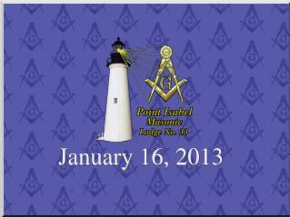 January 16, 2013