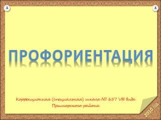 Коррекционная (специальная) школа № 657  VIII  вида Приморского района