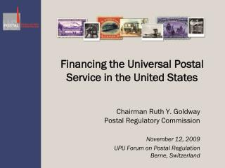 Financing the Universal Postal Service in the United States