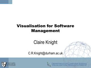 Visualisation for Software Management