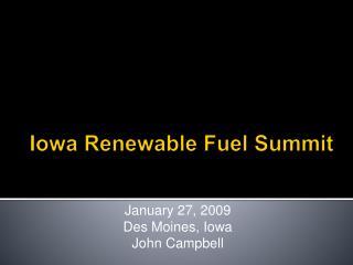 Iowa Renewable Fuel Summit