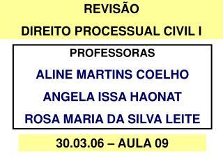 REVISÃO DIREITO PROCESSUAL CIVIL I