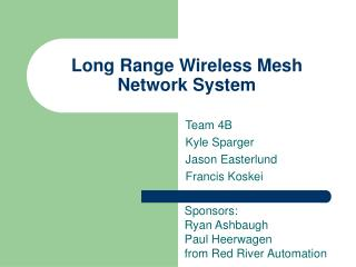 Long Range Wireless Mesh Network System