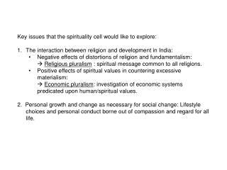 Relating spirituality to development: Part 2