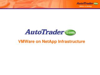 VMWare on NetApp Infrastructure