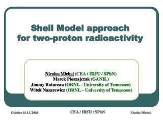 Shell Model approach  for two-proton radioactivity
