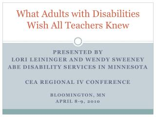 What Adults with Disabilities Wish All Teachers Knew